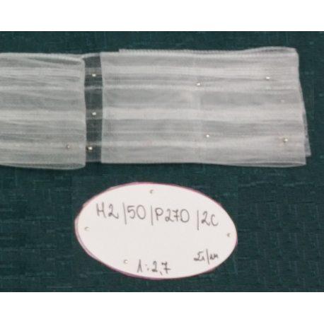 TAŚMA MARSZCZĄCA M2/50/P270/2C - Przezroczysta