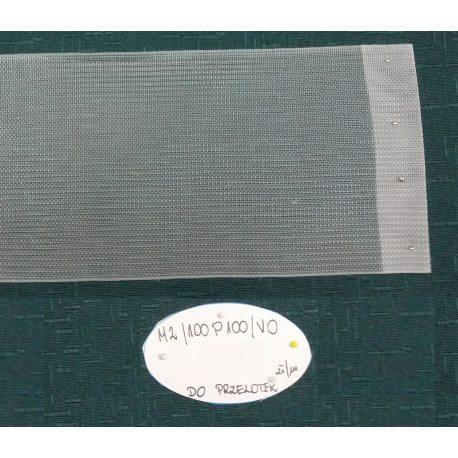 TAŚMA MARSZCZĄCA M2/100P100/V0 do przelotek - Przezroczysta