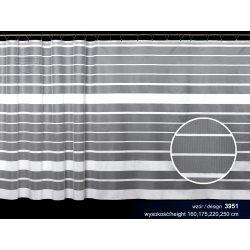 Firana żakardowa prosta nr 3951 (poziome pasy)