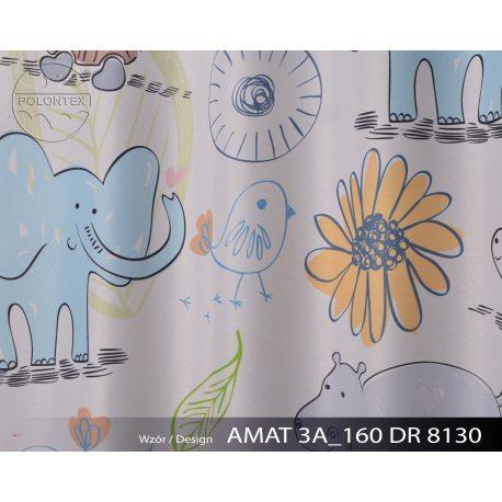 TKANINA AMAT DRUK NR 8130 - Zwierzątka z Afryki