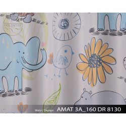 PIĘKNE MATOWE ZASŁONY DZIECĘCE DRUK NR 8130 - Zwierzątka z Afryki