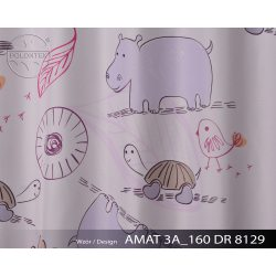PIĘKNE MATOWE ZASŁONY DZIECĘCE DRUK NR 8129 - Zwierzątka z Afryki