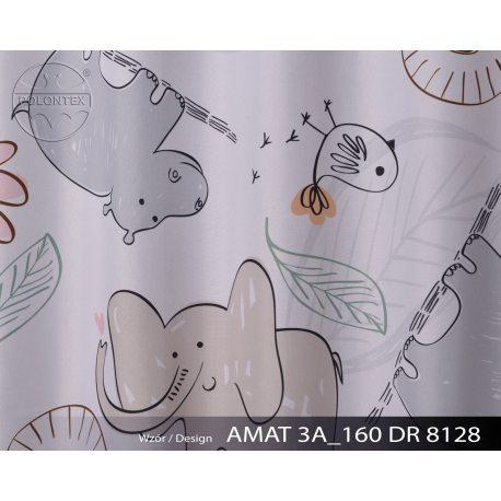 PIĘKNE MATOWE ZASŁONY DZIECĘCE DRUK NR 8128 - Zwierzątka z Afryki