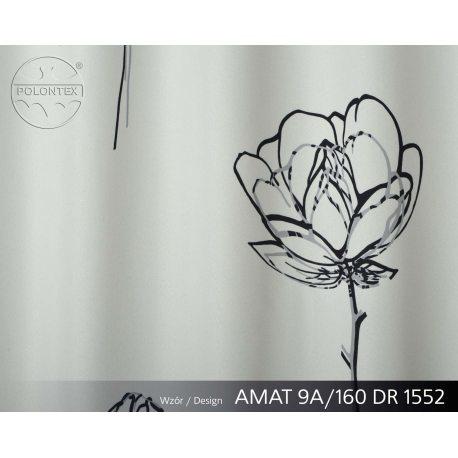 PIĘKNE MATOWE ZASŁONY DRUK NR 1552 - Kwiat Szkicowany