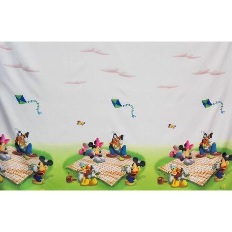 PIĘKNE MATOWE ZASŁONY DZIECĘCE DRUK NR DA11 - Myszka Miki
