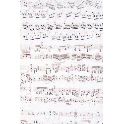 TKANINA ERMI wzór Nuty Chopina (V103)