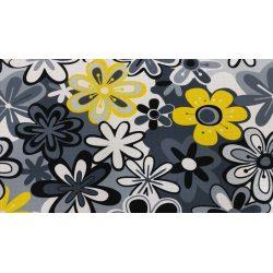 PIĘKNE MATOWE ZASŁONY DRUK NR 9554 - Kwiaty Hawajskie Żółte