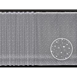 Firana żakardowa prosta nr 3989 (drobne kwadraty)