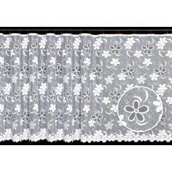 Firana żakardowa prosta nr 2859 (kwiatki)