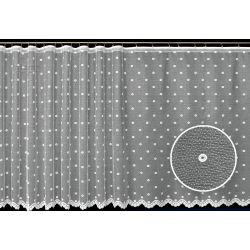 Firana żakardowa prosta nr 4119 (kółeczka)