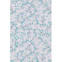 ZASŁONY 160x250 cm turkusowe kwiaty jaśminu S wzór 9738