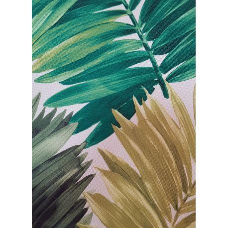 PIĘKNE MATOWE ZASŁONY 160 x 160 CM - Palmy zielone DRUK L 2117
