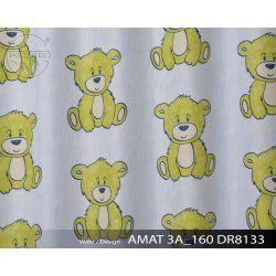 TKANINA AMAT DRUK NR 8133 - Misie Kolorowe Żółte