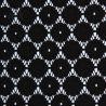 Tkanina koronkowa wzór 4222, kolor czarny