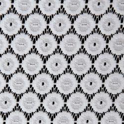 Tkanina koronkowa wzór 4222, kolor biały