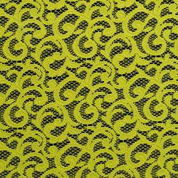 Tkanina koronkowa wzór 4223 kolor limonka
