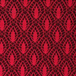 Tkanina koronkowa wzór 4224, kolor malinowy