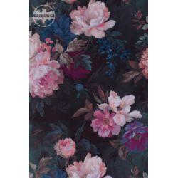 TKANINA Druk L Magnolie retro wzór 2141 vintage flower