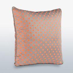 Poszewka PUNITI 50x50 - neonowa pomarańcz i szarość groszki (6012 - A530)