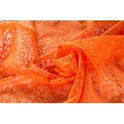 Firana / szal barwiony żakardowy / koronkowy pomarańcz 3734 szer. 320 cm