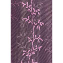 Firana / szal barwiony żakardowy / koronkowy fiolet 3790 - lila szer. 300 cm